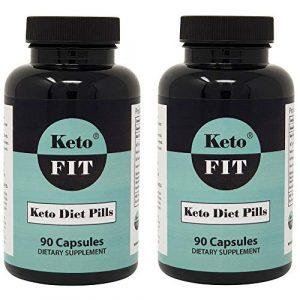 Keto-Diätpillen für Männer und Frauen – MCT-Öl Kollagen Phenylalanin Grüner Tee – Ketose Verbessertes Ergänzungsmittel für Gewichtsverlust Appetithemmer Schlankheitspillen – 90 Kapseln