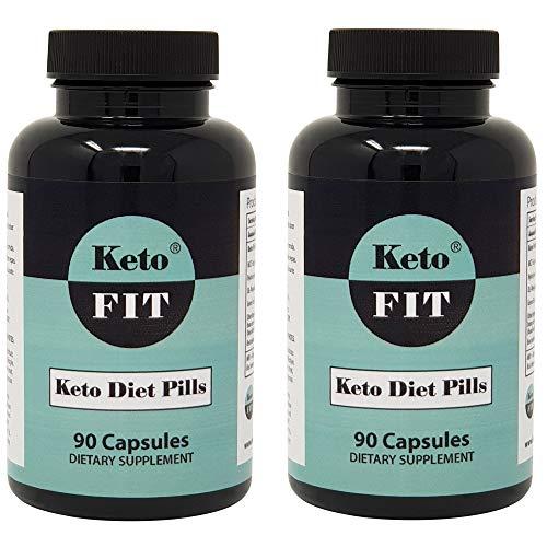 Keto-Diätpillen für Männer und Frauen - MCT-Öl Kollagen Phenylalanin Grüner Tee - Ketose Verbessertes Ergänzungsmittel für Gewichtsverlust Appetithemmer Schlankheitspillen - 90 Kapseln