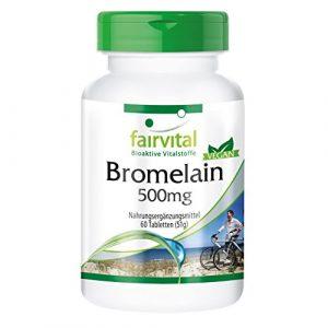 Bromelain Tabletten 500mg – HOCHDOSIERT – VEGAN – 60 Tabletten – 1200 F.I.P. – Ananasenzym