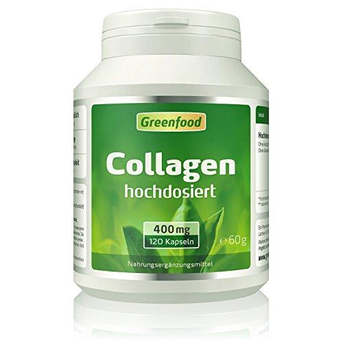 Collagen, 400 mg, hochdosiert, 120 Kapseln - natürliches Collagenhydrolysat. OHNE künstliche Zusätze, ohne Gentechnik.