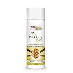 REINES PROPOLIS – Reines Propolis + Honig + Vitamin C + Thymian + Echinacea – Schützt die Abwehrkräfte – Starkes natürliches Antibiotikum, Antibakterium, Entzündungshemmend – 120 Einheiten.