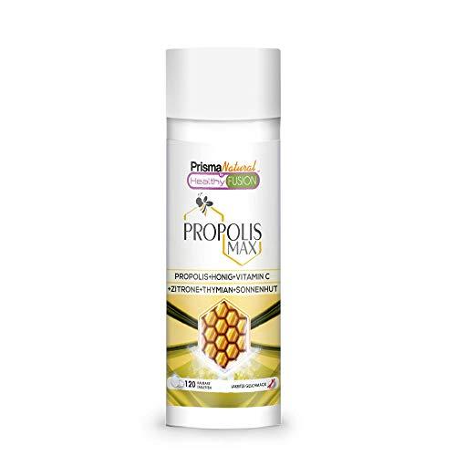 REINES PROPOLIS - Reines Propolis + Honig + Vitamin C + Thymian + Echinacea - Schützt die Abwehrkräfte - Starkes natürliches Antibiotikum, Antibakterium, Entzündungshemmend - 120 Einheiten.