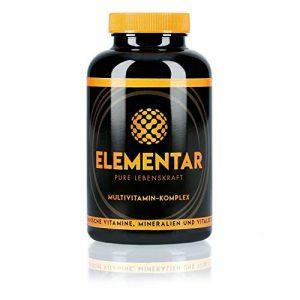ELEMENTAR | Multivitamin – Komplex | Hochdosiert | Natürlich und organisch | Vitamine, Antioxidantien, Mineralien, Vitalstoffe, Aminosäuren | 300 Kapseln | Made in Germany