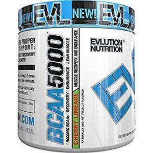 Evlution Nutrition BCAA 5000, Pulverartiges Ergänzungsmittel Mit 5 Gramm Premium BCAA, 30 Portionen, Kirsche Limeade