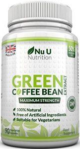 Extrakt aus Grünen Kaffeebohnen – mit Chlorogensäure zum natürlichen Abnehmen – für Vegetarier geeignet – 90 Kapseln – Nahrungsergänzungsmittel von Nu U Nutrition