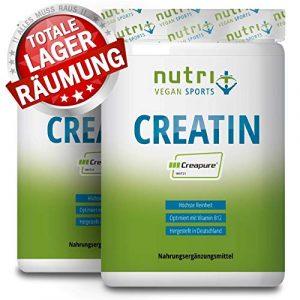 Creapure ® CREATIN MONOHYDRAT 1kg Pulver für mehr Kraft – 99,99% rein – höchste Dosierung – Ultrafeines Kreatin Neutral 1000g – Nutri-Plus Vegan – Premiumqualität aus Deutschland