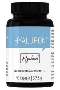 HYALUROL Hyaluronsäure Kapseln – hochdosiert, vegan, bio, rein – 90 Kapseln (3 Monate) hergestellt in Deutschland
