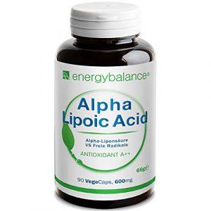 Alpha-Liponsäure 600 mg – Alpha-Lipoic Acid – Thioctsäure – Antioxidantien – Vegan – Glutenfrei – Ohne Zusatzstoffe – GVO-frei – 90 VegeCaps