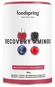 foodspring Recovery Aminos, 400g, Waldbeere, Cleane Post-Workout Recovery ohne künstliche Aromen, Hergestellt in zertifizierten Produktionen in Deutschland