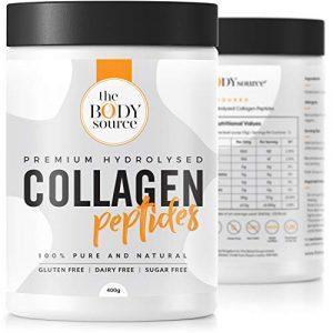 Premium Kollagen Protein Pulver mit Hyaluronsäure | Hydrolysat Peptide aus Weidehaltung (Rind) | 100% rein, geschmacksneutral, ohne Zusatzstoffe | Optimal für Muskelaufbau, Haut, Gelenke | 400 Gramm