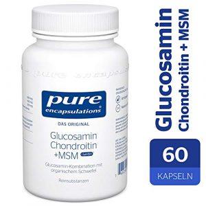 Pure Encapsulations – Glucosamin Chondroitin + MSM – Glucosamin-Kombination mit organischem Schwefel – 60 Kapseln
