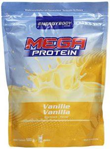 Energybody Mega Protein, Vanille, 1er Pack (1 x 500 g Beutel)