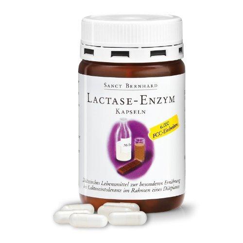 Lactase-Enzym-Kapseln 6.000 FCC Einheiten 100 Kapseln