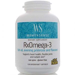 """WomenSense, RxOmega-3, Damen Blend, 120 Softgels: Essentielle Fettsäuren Formel für Frauen – """"Jede Frau, jeden Tag"""""""