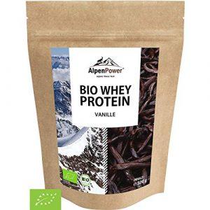 ALPENPOWER | BIO WHEY Protein Vanille | Ohne Zusatzstoffe | 100% natürliche Zutaten | 7 Sorten | Bio-Milch aus Bayern und Österreich | Superfood Vanille | Hochwertiges Eiweiß | Low Carb | 500 g
