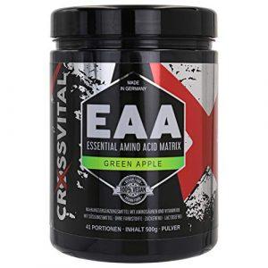 EAA Pulver I CROSSVITAL I GREEN APPLE I vegan I 500g I mit Vitamin B6 I mega Geschmack I 1A löslich I made in Germany
