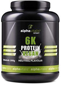PROTEINPULVER Neutral – 6K Protein VEGAN 1 Kg – 82,9% Eiweißgehalt – ohne Süßstoff – zuckerfrei & fettfrei – natürlich auch zum Kochen und Backen